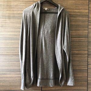 ALO Yoga hooded grey cardigan Small